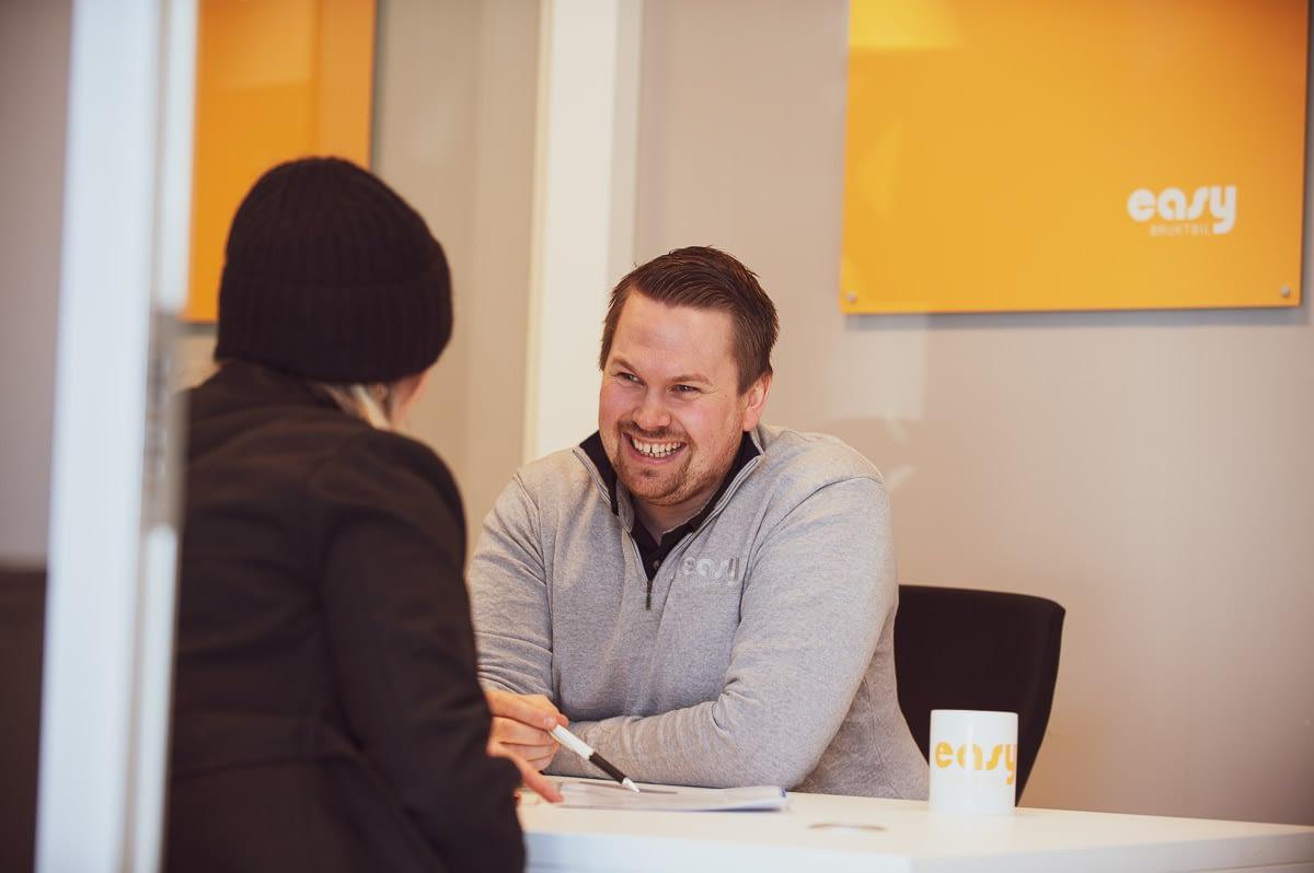 Finansiering ved bilkjøp er Easy hos Easy. Vi er en del av Bilservice, noe som gir deg gode betingelser ved kjøp.