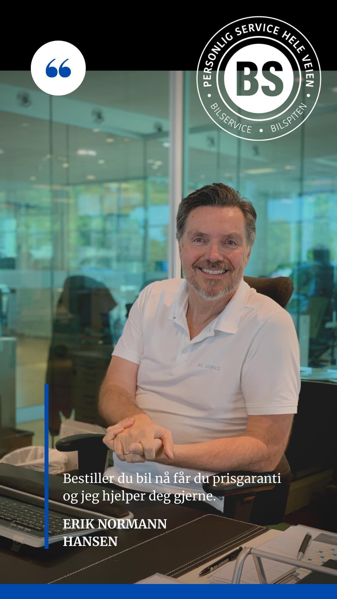 Erik Normann Hansen ved Bilservice / bilSpiten