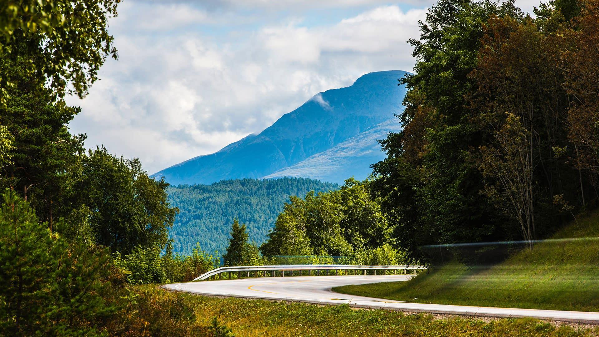 Eneløs vei og fjell