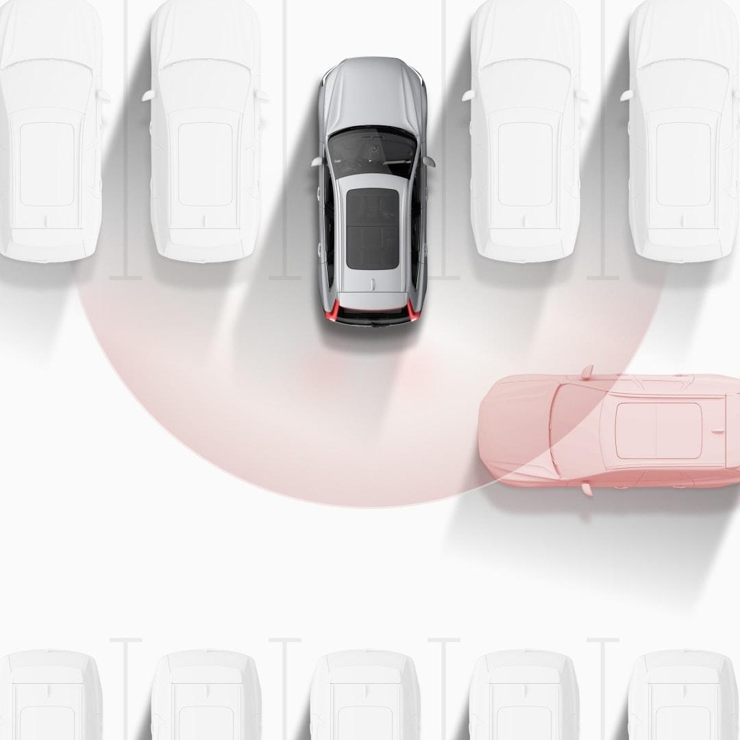 Volvo cross traffic alert illustrasjon